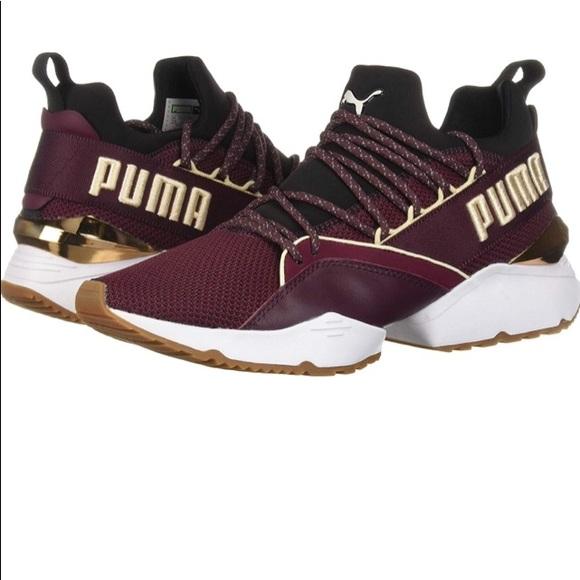 Puma Shoes   Women Burgundy Pumas